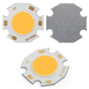 COB LED Chip 5 W (warm white, 450 lm, 20 mm, 300 mA, 15-17 V)