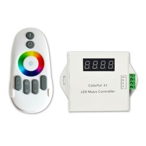LED Digital Music Controller with Radio Remote Colorful X1 (WS2811, 12 V)