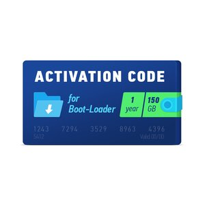 Boot-Loader 2.0 Activation Code (1 year, 150 GB)