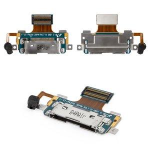 Cable flex para tablet PC Samsung P6200 Galaxy Tab Plus, P6201 Galaxy Tab Plus N, del micrófono,  del conector de carga, con componentes