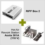 RIFF Box 2 + Estación de soldadura de aire caliente Accta 301A (110 V)