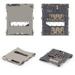 Коннектор SIM-карты для мобильных телефонов Sony C6602 L36h Xperia Z, C6603 L36i Xperia Z, C6606 L36a Xperia Z