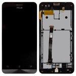 Дисплей для Asus ZenFone 5 (A500CG), ZenFone 5 (A500KL), ZenFone 5 (A501CG), черный, с сенсорным экраном, с передней панелью