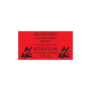 Предупреждающие наклейки о покидании EPA-зоны Warmbier 2850.300500.R.DE