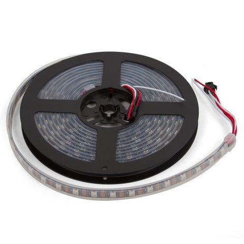Світлодіодна стрічка RGB SMD5050, WS2812B з управлінням, IP67, 5 В, 60 діодів м, 5 м
