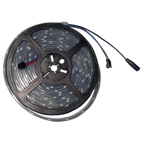 Світлодіодна стрічка RGB SMD5050, WS2813 чорна, з управлінням, IP67, 5 В, 30 діодів м, 5 м