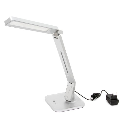 Dimmable Rotatable Shadeless LED Desk Lamp TaoTronics TT-DL07, Silver, US